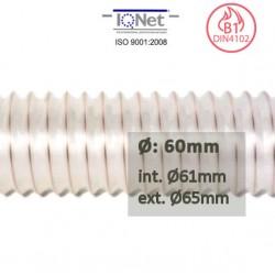 Tubo flexible auto extinguible - Norma DIN4102 B1