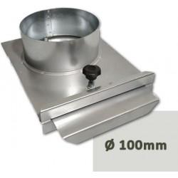 Guillotina tajadera galvanizada para tubo con cierre de seguridad