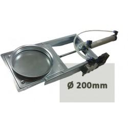 Guillotina tajadera electro neumática con pistón y solenoide