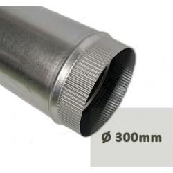 Tubo liso chimenea aspiracion galvanizado fácil de instalar